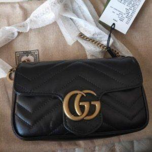 NWT Authentic GG Marmont super mini bag
